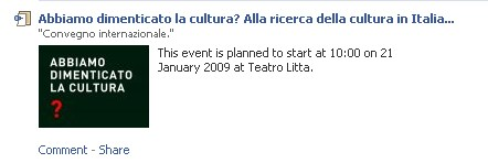 Abbiamo dimenticato la cultura? Alla ricerca della cultura in Italia...